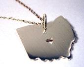 Geek Collection- I Heart Ohio Pendant