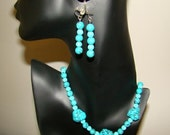 CHALK TURQUOISE NECKLACE SET