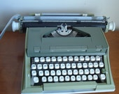 YARD SALE vintage green Newport typewriter