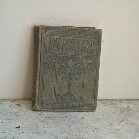 antique medical textbook 1910