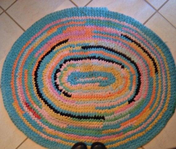 Vintage Colorful Rag Rug