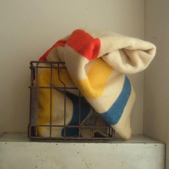 Reserved Listing for dwhite vintage Hudson Bay style wool blanket