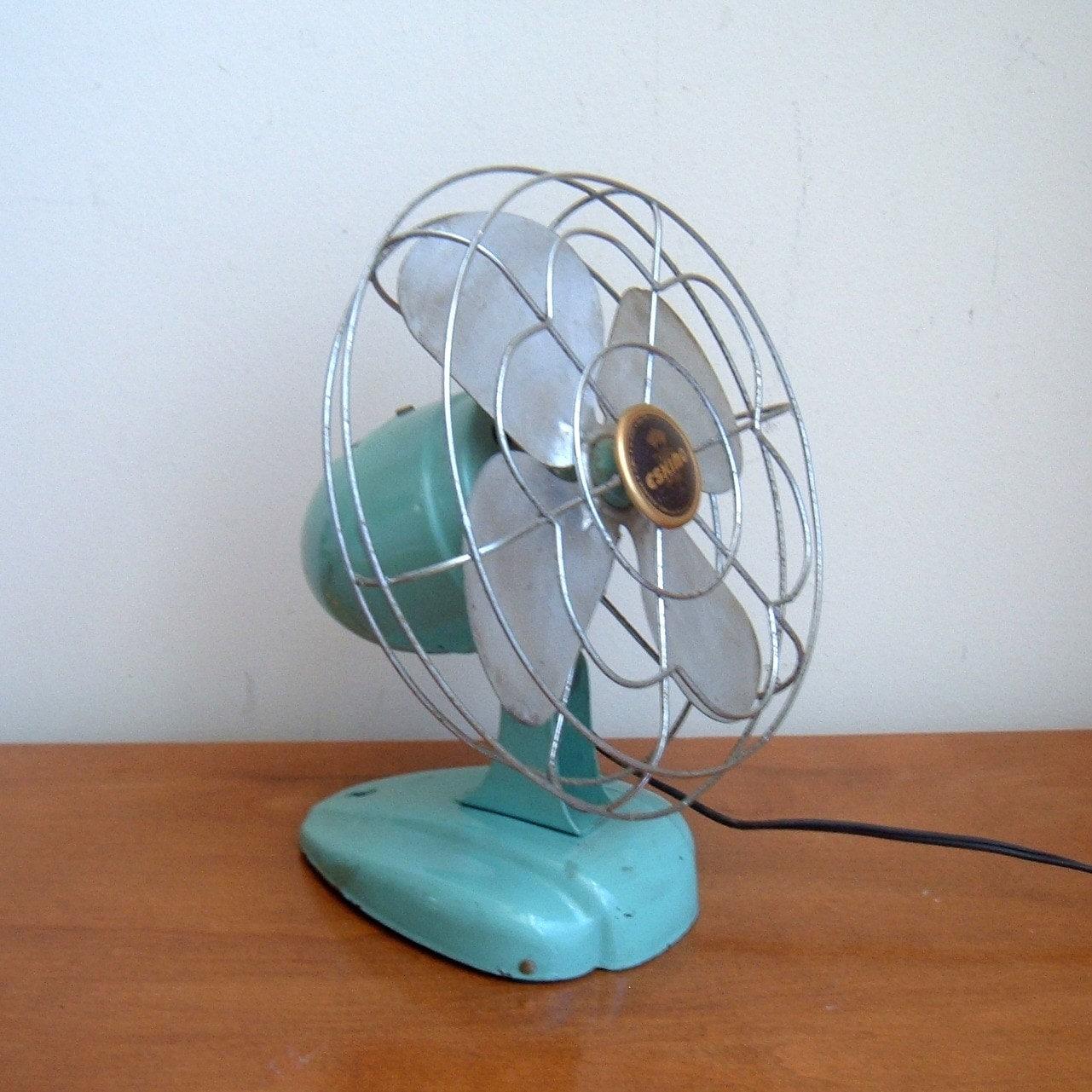 Vintage Aqua Eskimo Fan