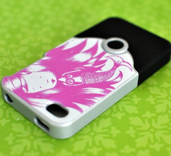 SALE 1/2 off Mermaid iPhone Case - tech gear pink mermaid black green silver iPhone case slider case