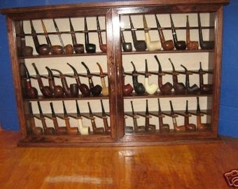 Pipe rack cabinet 42 Pipe Rack Display Cabinet,Churchwarden felt Item 191