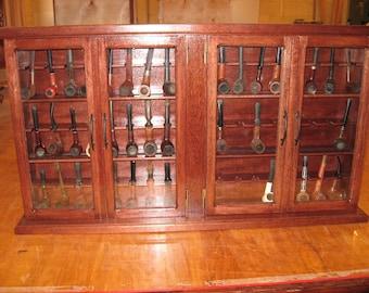 Pipe rack cabinet 48 Pipe Rack Display Cabinet,Double 4 door Item 190CC