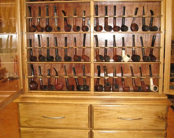Pipe rack cabinet 56 Pipe Rack Display Cabinet,Churchwarden 4 door base cabinet. Item  192B2