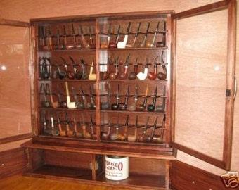 Pipe rack cabinet 56 Pipe Rack Display Cabinet Churchwarden Item  192B
