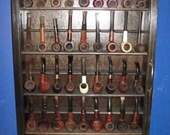 45 Pipe Rack Cabinet Display,Churchwarden Item  200