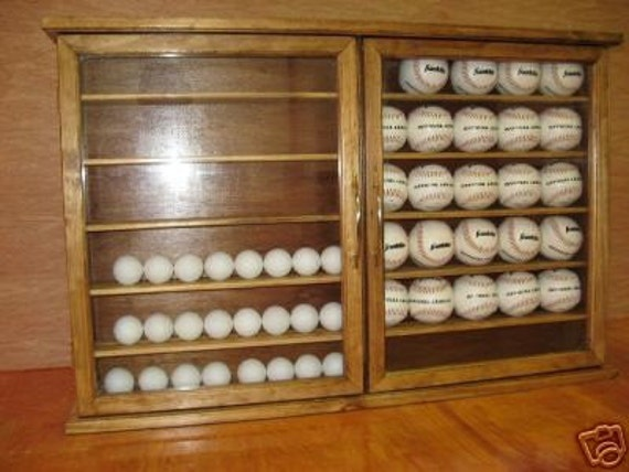 Baseball or Golf ball Display Cabinet Rack Item 203