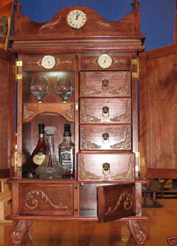 antique style cigar humidor 200 plus cigar capasity brandy