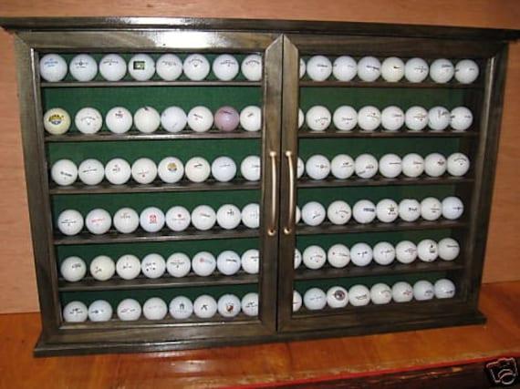 96 Golfball Display Cabinet Rack Custom Item 169