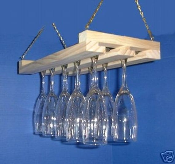 Hanging Wine Glass Rack Stemware Holder 15 By