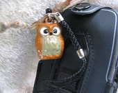 OWL Bell Charm - Cell phone Strap - Really- Oh my-