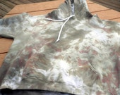 Hand Dyed Hoodie - (XL) - Mottled Army Camouflage