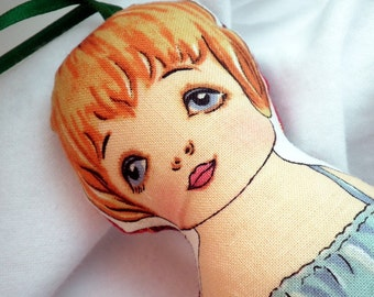 Ornament or Doll - Vintage Inspired Paper Doll - Mary Kay