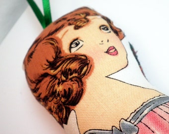 Paper Doll Ornament - Vintage Inspired - Anne