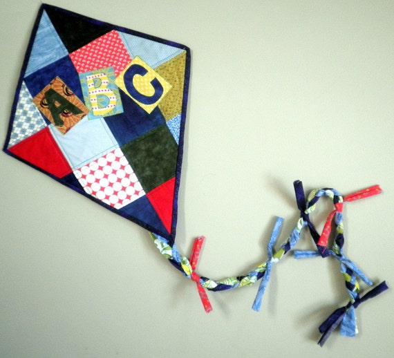 Quilted Wall Art - Let's Go Fly a Kite - ABCs - made to order