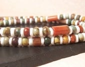 Spice Island Unisex Necklace - Spicy Colors of Red, Orange, Yellow, Green, Black and Brown