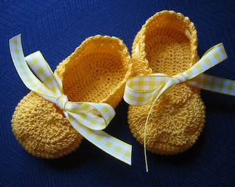 Crochet Booties Baby Girl Ballet Slippers 3-6 months