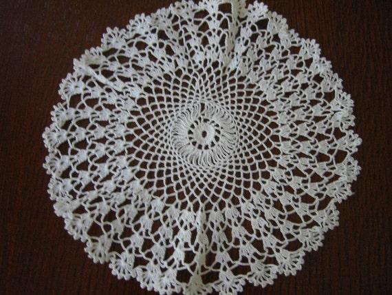 Crochet Doily Dainty White Lace