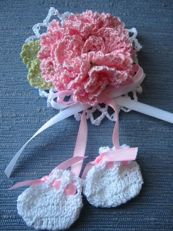 Girl Baby Shower Crochet Corsage