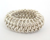 Reserved for ChamoisII European 4-1 Chainmaille Ring Sterling Silver