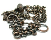Antiqued Copper Japanese Weave Necklace