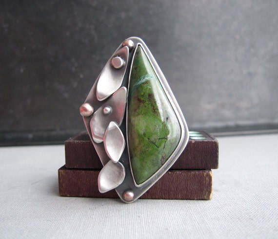 Essence of a Tree Ring - Sterling Silver and Parrot Wing Jasper