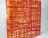 GRIDLOCK hand-dyed silk wall hanging