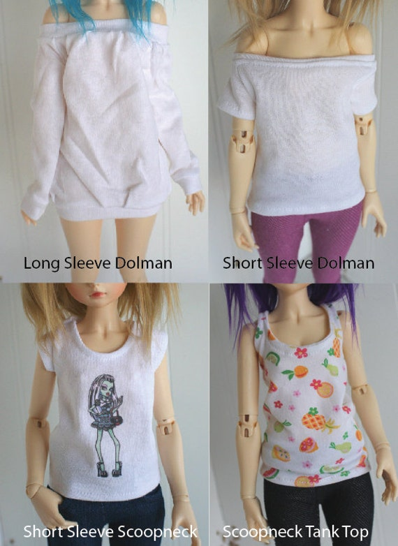 BJD / Dollfie  number 3..CREATE your own Character SHIRT.. Msd and Yosd sized