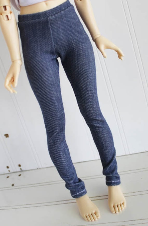 doll clothes BJD clothes Dollfie clothes MSD clothes LIGHT blue wash Jeggings  monstrodesign