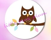 Buy 3 Get The 4th Free  - Pocket Mirror - Owl On A Branch