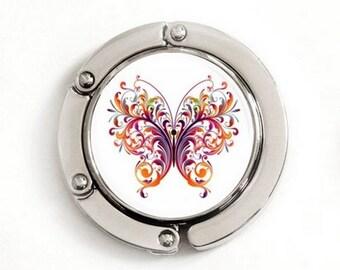 Boho Butterfly Purse Hook, foldable purse hook, tabletop purse hanger