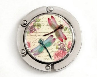 Dragonflies Purse Hook, foldable purse hook, tabletop purse hanger, PH003
