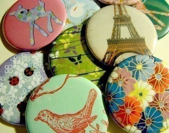 Set of 10 Pocket Mirrors with Bags - Surprise Pack