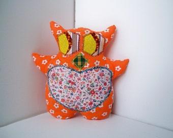 Daisy Mushroom A Scrappy Owl Plush Stuffed Toy