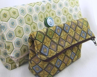 Very Easy Fashionable Fold-Over Clutch INSTANT DOWNLOAD PDF Pattern Tutorial in Two Sizes