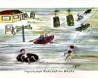 Hurricane Evacuation Route Print