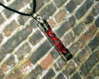 Resident Evil - Red G-Virus Charm Necklace