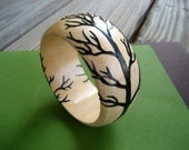 Branching Out Wooden Bangle-Brown