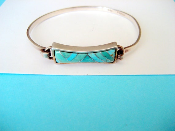 DESTASH.....Sterling and Turquoise Bracelet