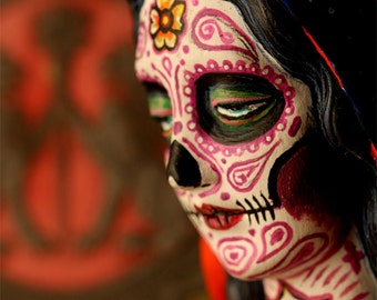 Dia De Los Muertos Tattoo Virgin Mary PRINT 305 by Michael Brown/UC Studios