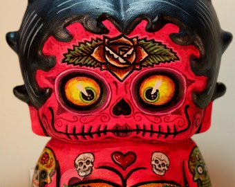 Dia De Los Muertos Deadey Betty Boop canon PRINT 327 reproduction from  sculpture by Michael Brown/UC Studios