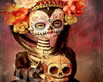 Creepy Goth Dia De Los Muertos Doll Canon PRINT 397 by Michael Brown/UC Studios