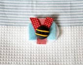 Clay & Fabric Brooch
