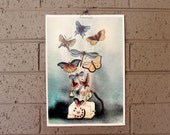 Illustration Print - Flying Things & A Phone
