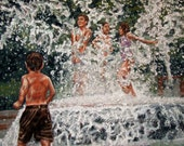 Charleston SC Fountain signed print by artist donna pellegata