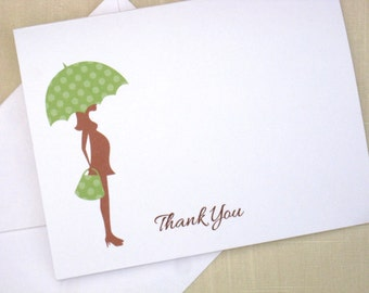 Mom To Be Cards - Set of 25 Mod Baby Shower Thank You Notes