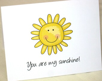 You Are My Sunshine Note Cards -  Set of 8